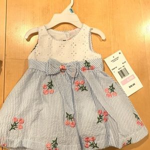 Rare Editions cute seersucker dress, 6-9mo